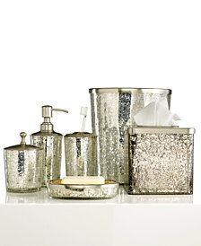 Paradigm Bath Accessories, Crackle Glass Ice Trash Can
