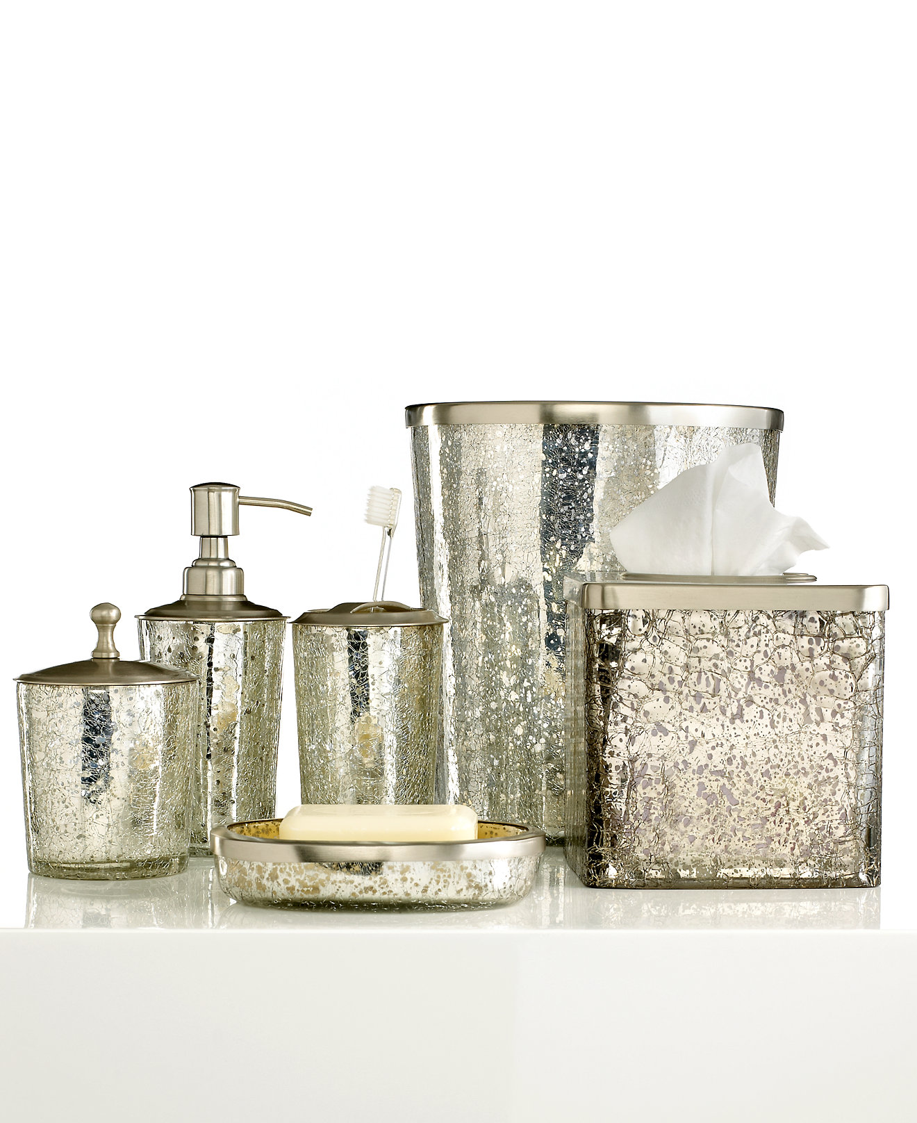 Dkny Bathroom Accessories Paradigm Bath Accessories Crackle Glass Ice Collection Bathroom