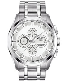 Watch, Men's Swiss Automatic Chronograph Couturier Stainless Steel Bracelet 43mm T0356271103100