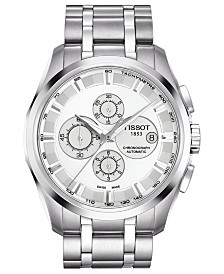 Tissot Watch, Men's Swiss Automatic Chronograph Couturier Stainless Steel Bracelet 43mm T0356271103100
