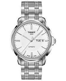 Tissot Men's Swiss Automatic III Stainless Steel Bracelet Watch 39mm T0654301103100