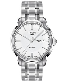 Tissot Men's Swiss Automatic III Stainless Steel Bracelet Watch 39mm T0654301103100