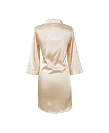 Cathy's Concepts Bride Gold Satin Night Shirt