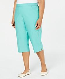 Plus Size Coastal Drive Capri Pants