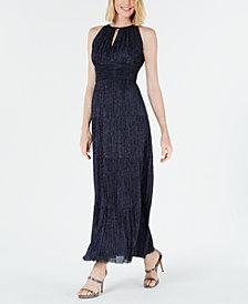 R & M Richards Glitter Keyhole Gown
