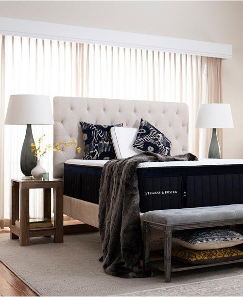 "Stearns & Foster Hybrid Pollock 14.5"" Luxury Cushion Firm Mattress Set - King"