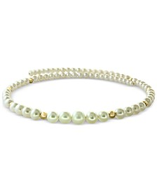 EFFY® Cultured Freshwater Pearl (4-9mm) & Gold Bead Flexible Choker Necklace in 14k Gold
