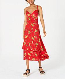 Speechless Juniors' Printed Slip Maxi Dress