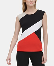 Calvin Klein Colorblocked Top