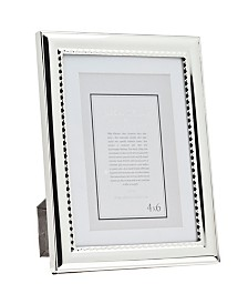 Philip Whitney Polished Silver Frame with Bead - 5x7