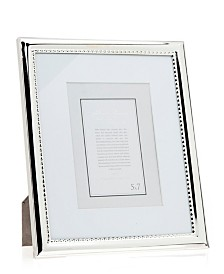 Philip Whitney Polished Silver Frame with Beads - 8x10