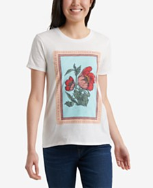 Lucky Brand Poppies Graphic T-Shirt