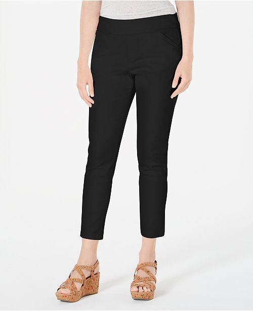 Style & Co Pull-On Slant-Pocket Ankle Pants, Created for Macy's