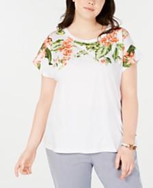 Tommy Hilfiger Plus Size Floral-Print T-Shirt