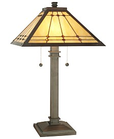 Dale Tiffany Jeweled Mission Table Lamp