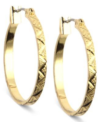 Image of Anne Klein Gold-Tone Small Hoop Earrings