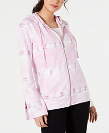 Ideology Tie-Dyed Bell-Sleeve Hoodie, Created for Macy's