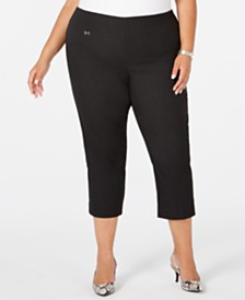 Alfani Plus Size Pull-On Slim-Leg Capris, Created for Macy's