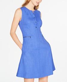 Elie Tahari Sleeveless Fit & Flare Dress
