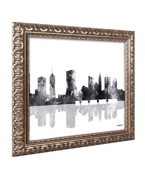 Trademark Global Marlene Watson 'Columbus Ohio Skyline BG