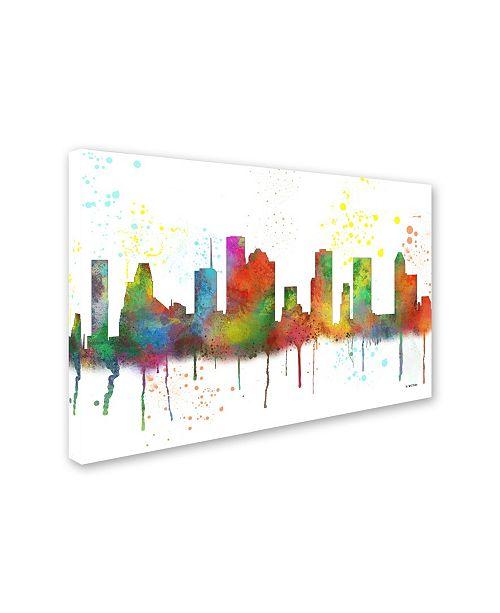 Trademark Global Marlene Watson 'Houston Texas Skyline