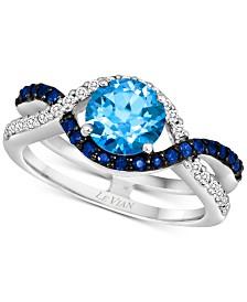 Le Vian® Multi-Gemstone (1-3/8 ct. t.w.) & Vanilla Diamond (1/6 ct. t.w.) Ring in 14k White Gold