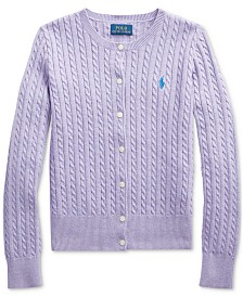 Polo Ralph Lauren Big Girls Combed Cotton Cardigan