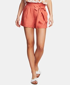 1.STATE Tie-Waist Cuffed-Hem Shorts