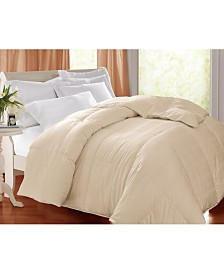 Blue Ridge 400 Thread Count Damask White Goose Feather/ Down Comforter, Full/Queen