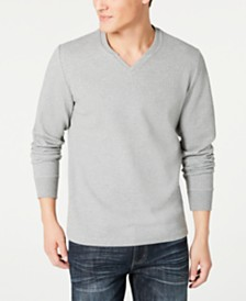 I.N.C. Men's Textured Split-Neck Sweatshirt, Created for Macy's