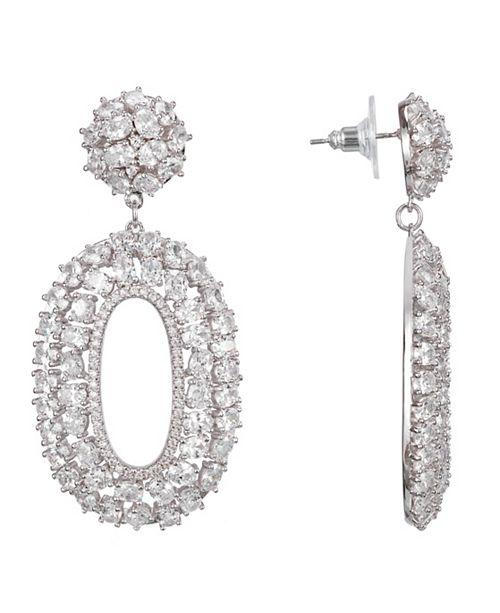 Nina Oval Cluster Drop Earrings