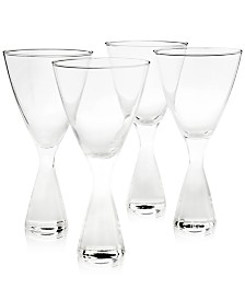 Hotel Collection Plateau Clear Glasses, Set of 4, Created for Macy's