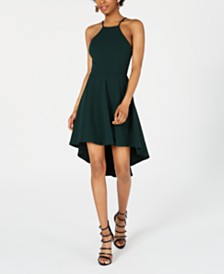 B Darlin Juniors' Laddered Open-Back High-Low Dress