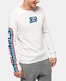 Superdry Men's Retro Classic Long-Sleeve Logo T-Shirt