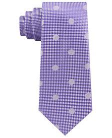 Sean John Men's Checkered Textured Dot Silk Tie