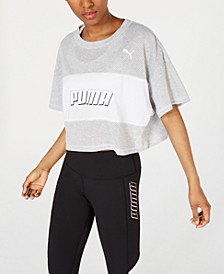Modern Sports Cotton Mesh Colorblocked Cropped T-Shirt