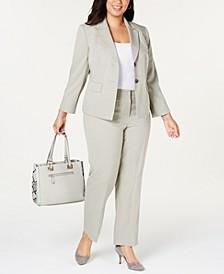 Plus Size Two-Button Pantsuit