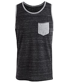 Univibe Men's Meaty Colorblocked Textured Pocket Tank