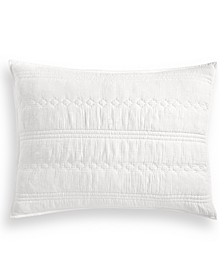 Crinkle Gauze Cotton King Sham, Created for Macy's
