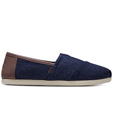 TOMS Men's Alpargata Dark Denim Slip-Ons