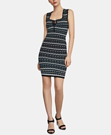 BCBGMAXAZRIA Striped Bodycon Dress