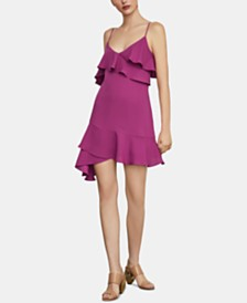 BCBGMAXAZRIA Asymmetrical Ruffled A-Line Dress