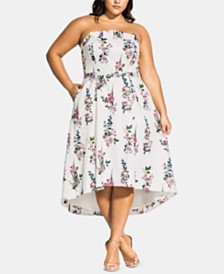 City Chic Trendy Plus Size Sweet Floral Bouquet Dress
