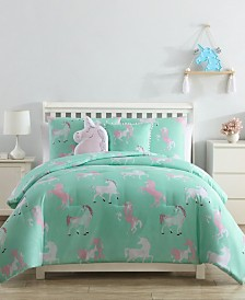 Unicorn 4-Piece Comforter Set - Twin