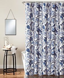 "Cynthia Jacobean 72"" x 72"" Shower Curtain"
