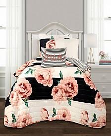 Amara Floral 4Pc Twin XL Quilt Set