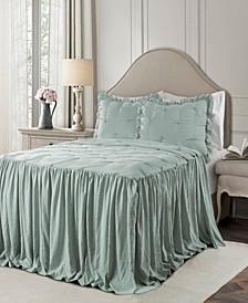 Ravello Pintuck Ruffle Skirt 3Pc Full Bedspread Set
