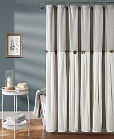 "Linen Button 72"" x 72"" Shower Curtain"