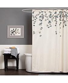 "Flower Drops 72"" x 72"" Shower Curtain"