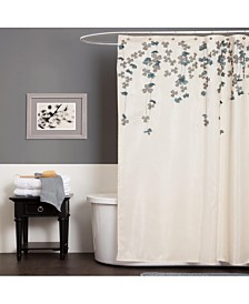 "Flower Drops 72"" x 72"" Shower Curtain"